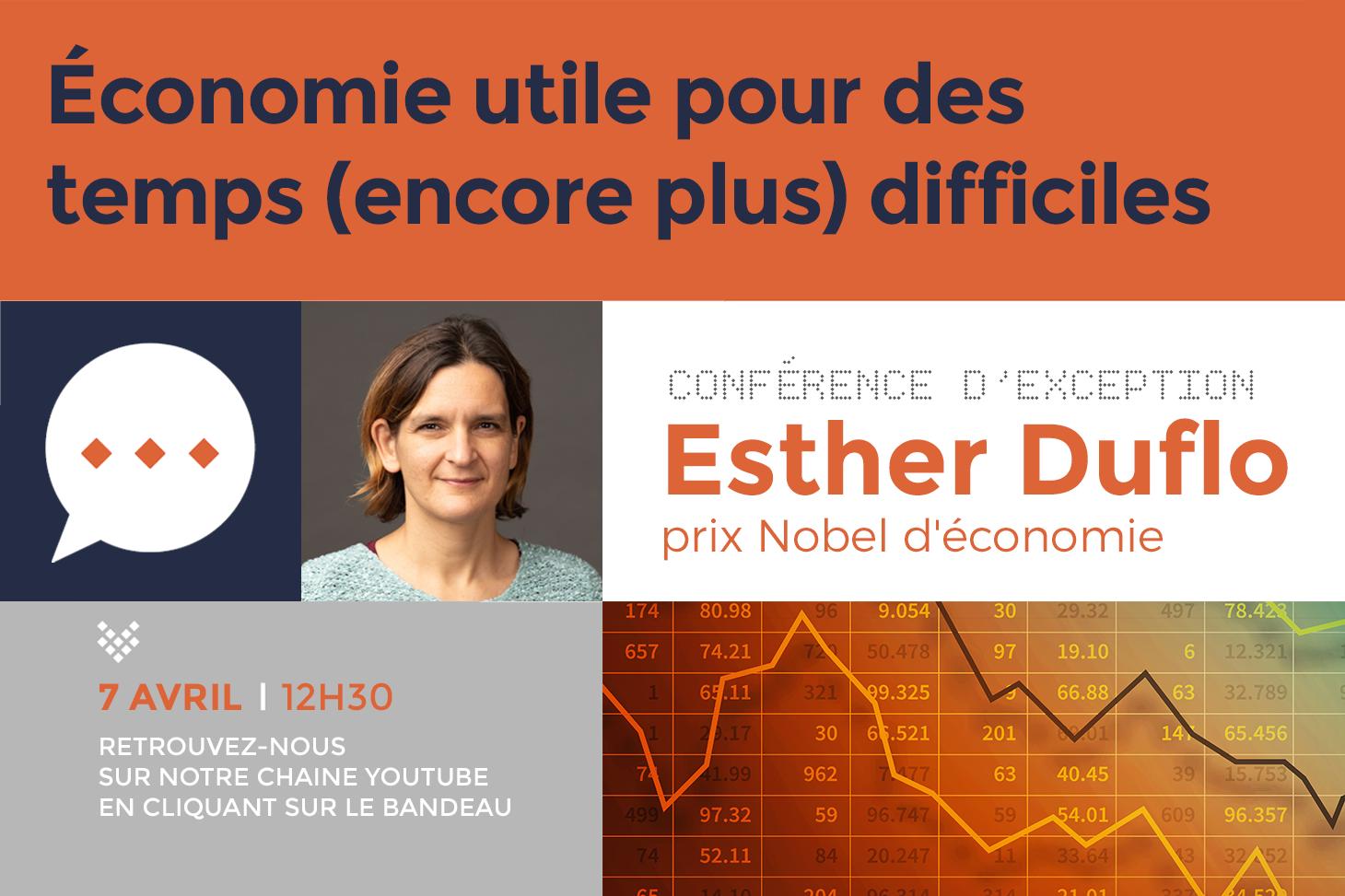 Conférence d'exception Esther Duflo